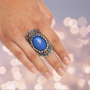 Blue Filigree Ring - Drama Dream